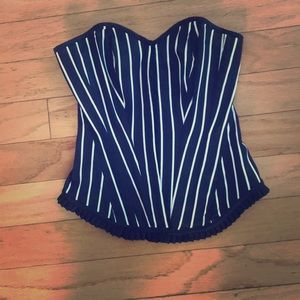 Black and white striped corset